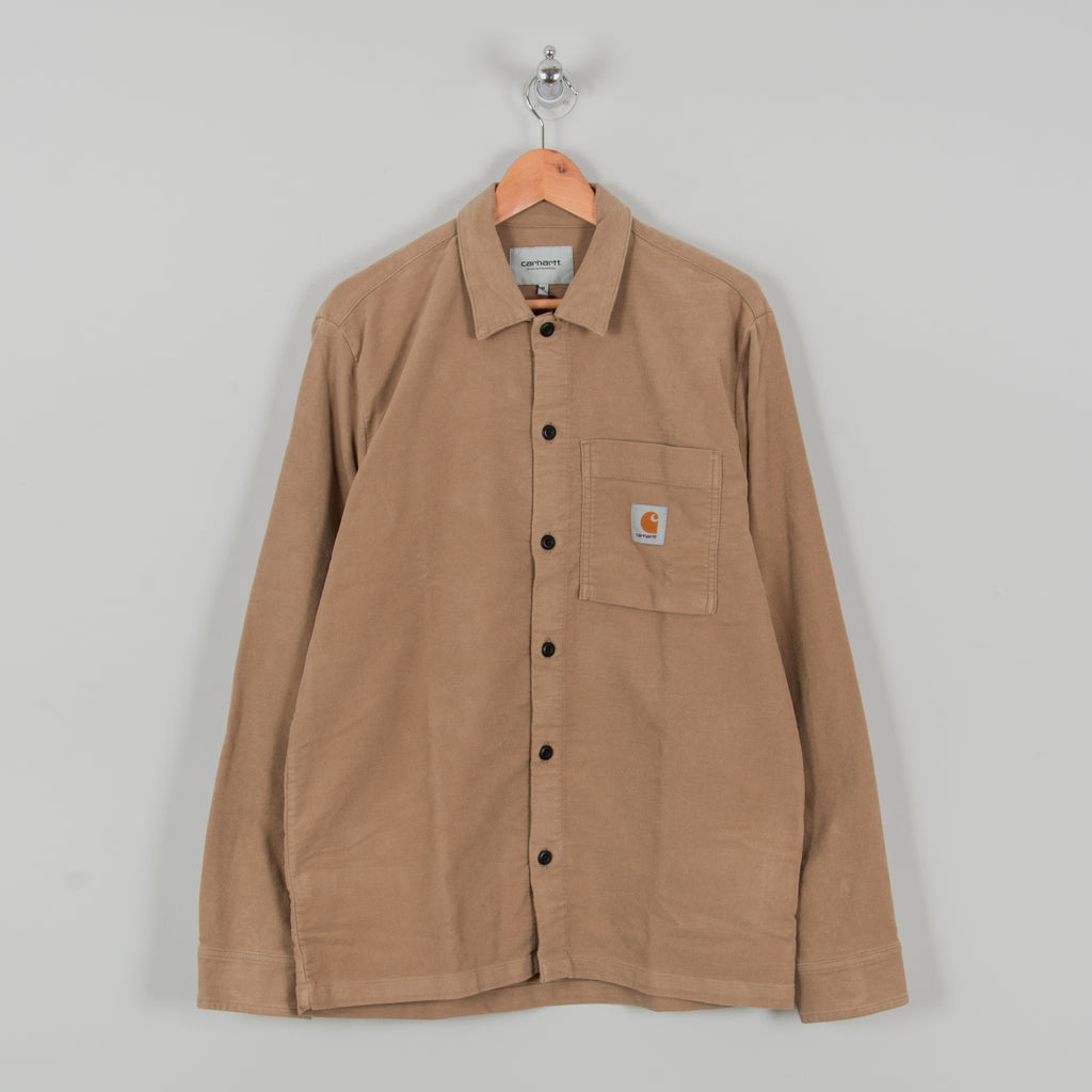 Carhartt WIP Holston Shirt L/S - Leather Rinsed 1