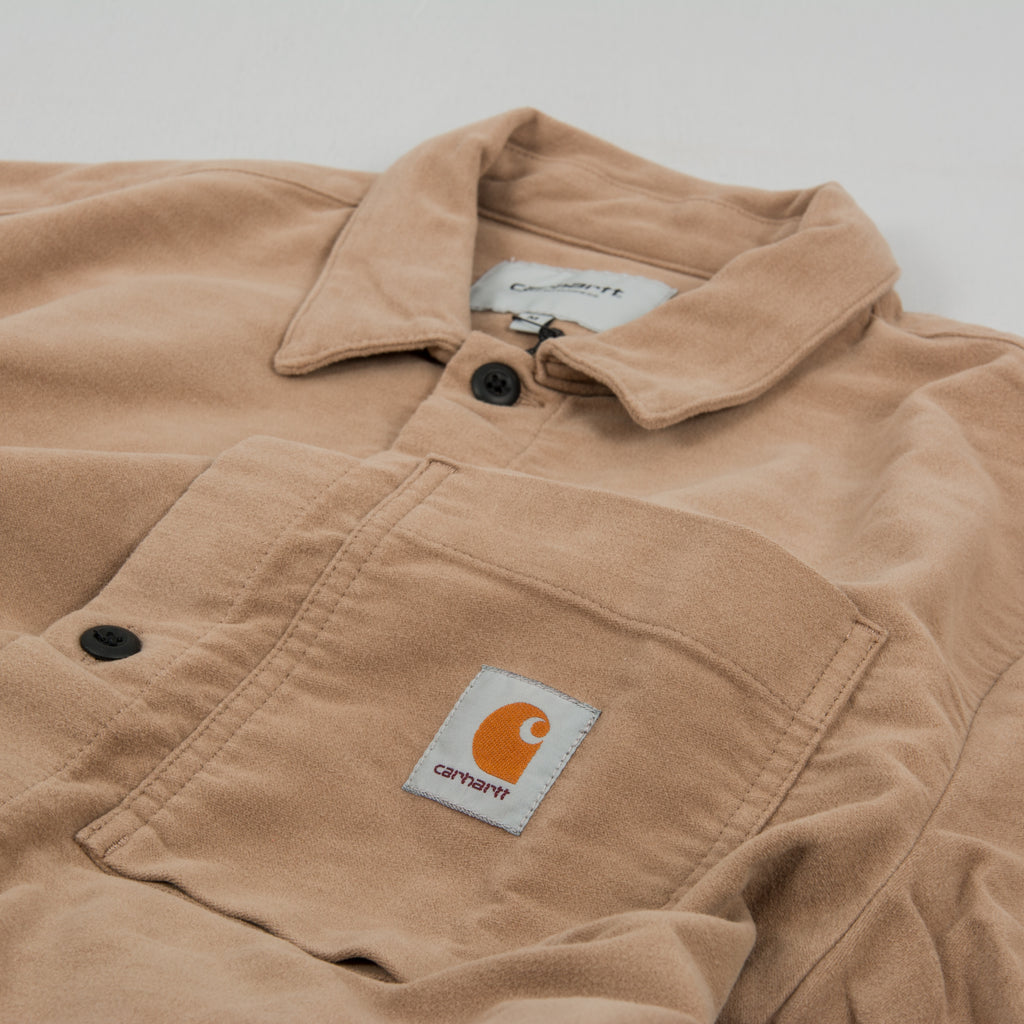 Carhartt WIP Holston Shirt L/S - Leather Rinsed 2