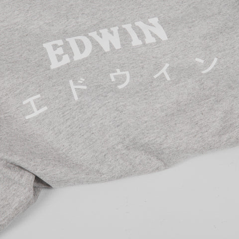 Edwin Japan Tee - Grey Marl Detail