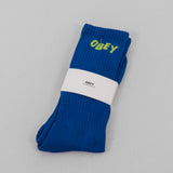 Obey Jumbled Socks - Ultramarine / Lime 1