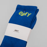 Obey Jumbled Socks - Ultramarine / Lime 2
