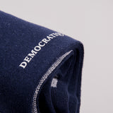 Democratique Latitude Striped Sock - Navy 2