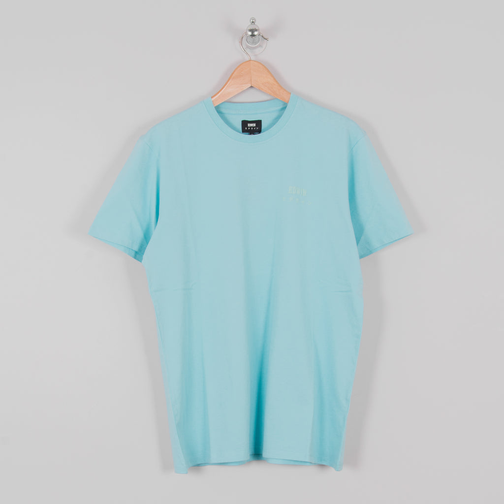 Edwin Logo Chest Tee - Angel Blue 1