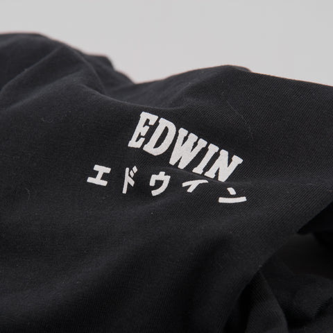Edwin Logo Chest Tee - Black 2