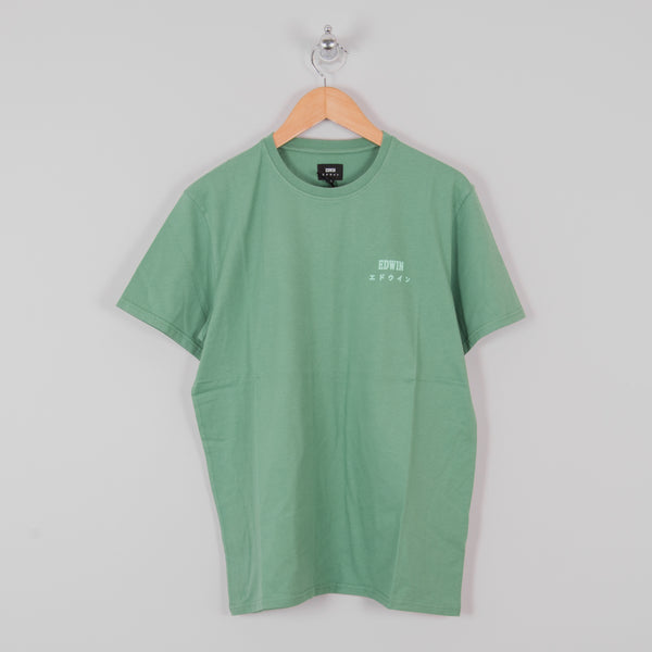 Edwin Logo Chest Tee - Frosty Spruce 1