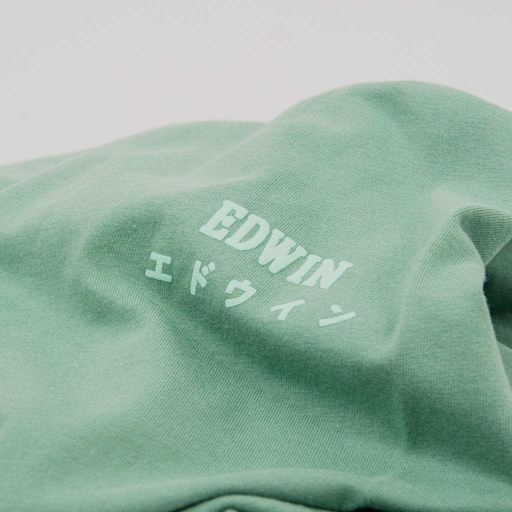 Edwin Logo Chest Tee - Frosty Spruce 2
