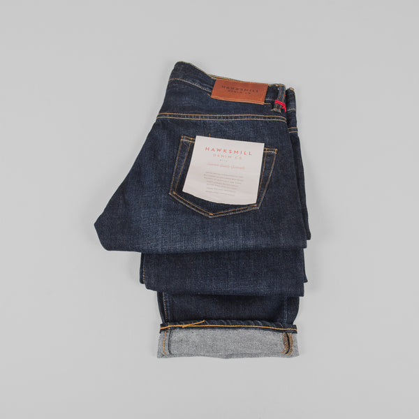 Hawksmill Denim Co Loose Tapered Jeans - Dark Wash Detail
