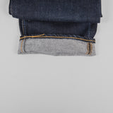 Hawksmill Denim Co Loose Tapered Jeans - Dark Wash Roll Up