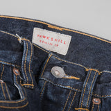 Hawksmill Denim Co Loose Tapered Jeans - Dark Wash Button