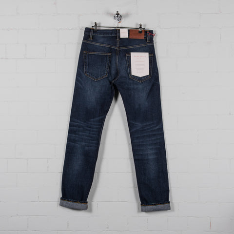 Hawksmill Denim Co Loose Tapered Jean - Mid Blue Wash Front