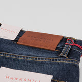 Hawksmill Denim Co Loose Tapered Jean - Mid Blue Wash Detail 2
