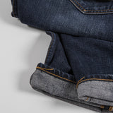 Hawksmill Denim Co Loose Tapered Jean - Mid Blue Wash Detail