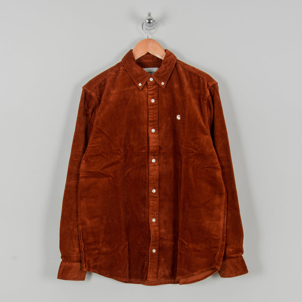 Carhartt WIP Madison Cord L/S Shirt - Brandy / Wax 1