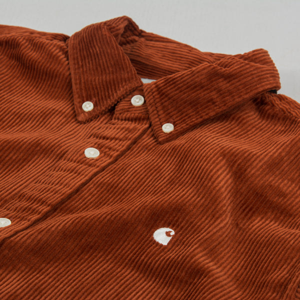Carhartt WIP Madison Cord L/S Shirt - Brandy / Wax 2