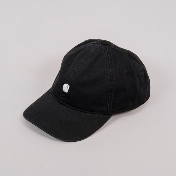 Carhartt WIP Madison Logo Cap - Black / White 1