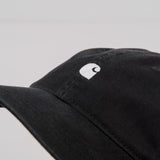 Carhartt WIP Madison Logo Cap - Black / White 2