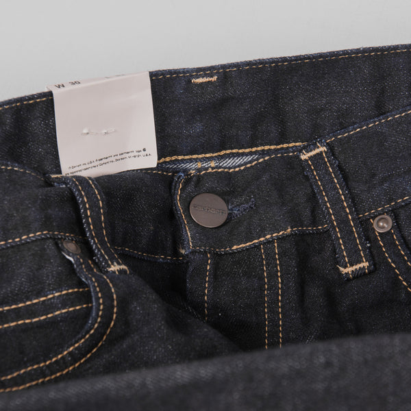 Carhartt Marlow Pant Jeans - Blue Rinsed Button 6