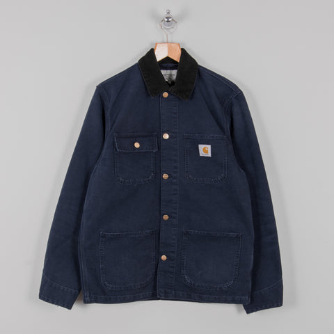 Carhartt Michigan Aged Canvas Chore Coat SS19 - Dark Navy 1