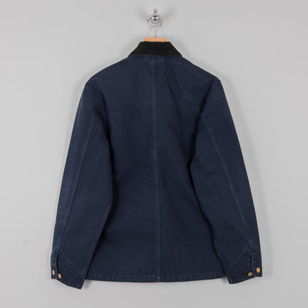 Carhartt Michigan Aged Canvas Chore Coat SS19 - Dark Navy 3