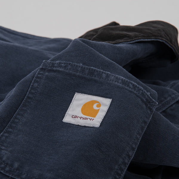 Carhartt Michigan Aged Canvas Chore Coat SS19 - Dark Navy 4