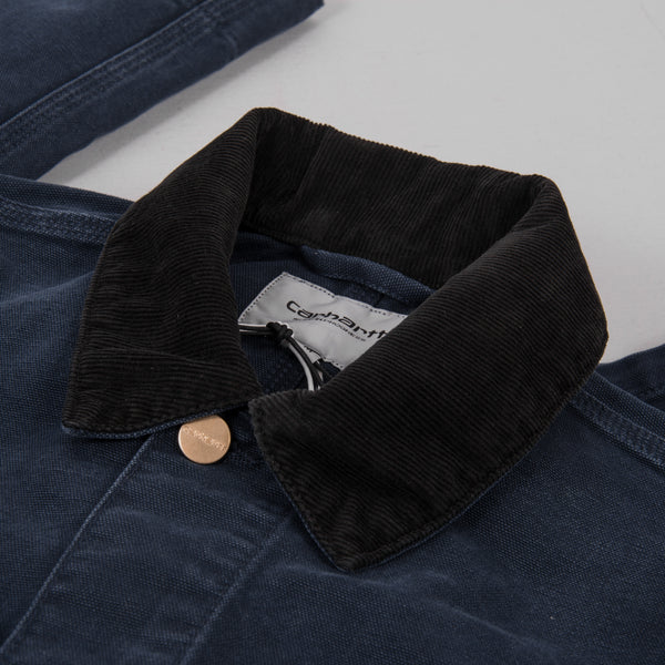 Carhartt Michigan Aged Canvas Chore Coat SS19 - Dark Navy 2