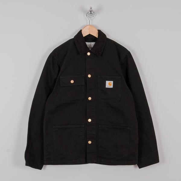 Carhartt Michigan Rinsed Chore Coat SS19 - Black 1