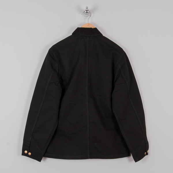 Carhartt Michigan Rinsed Chore Coat SS19 - Black 3
