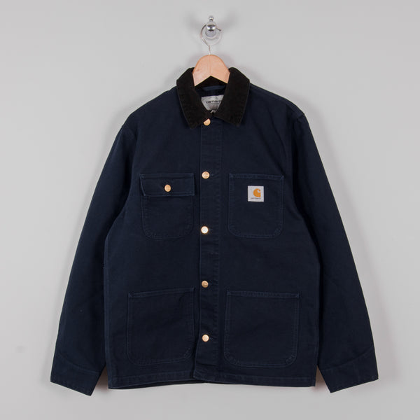 Carhartt Michigan Rinsed Chore Coat SS19 - Dark Navy Rinsed 1