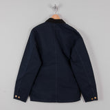 Carhartt Michigan Rinsed Chore Coat SS19 - Dark Navy Rinsed 3