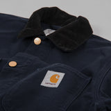 Carhartt Michigan Rinsed Chore Coat SS19 - Dark Navy Rinsed 2