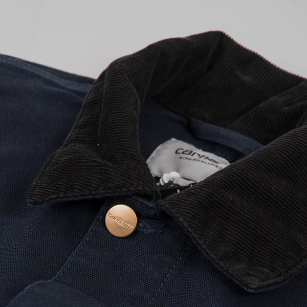 Carhartt Michigan Rinsed Chore Coat SS19 - Dark Navy Rinsed 4