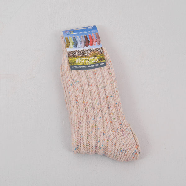 Donegal Socks in traditional Wool - 301 Multi 1