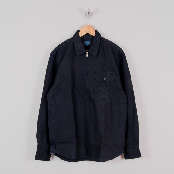 Edwin Naval Popover Shirt - Cloud Selvedge Indigo Rinsed 1