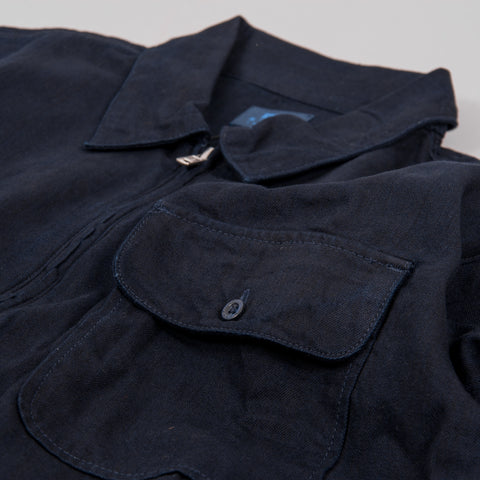 Edwin Naval Popover Shirt - Cloud Selvedge Indigo Rinsed 2