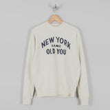 Deus ex Machina New You Crew Sweat- White Chalk 1