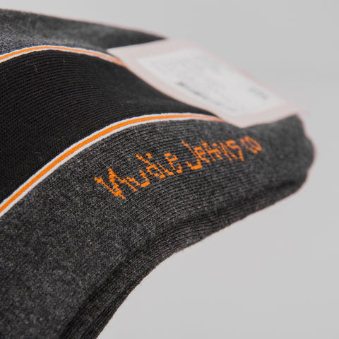 Nudie Ollson Selvage Socks - Dark Grey