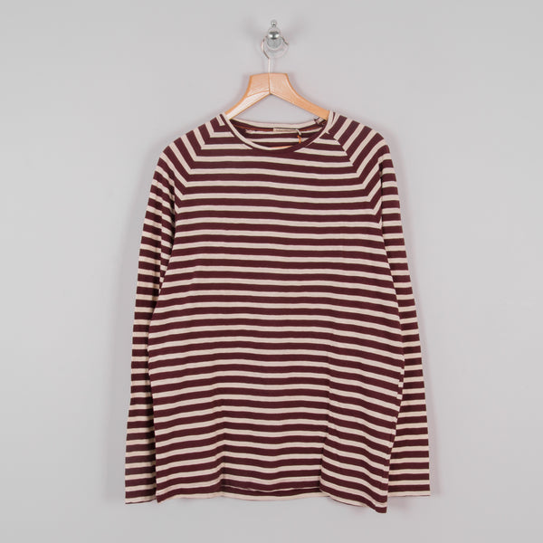 Nudie Otto L/S Striped Tee - Fig 1