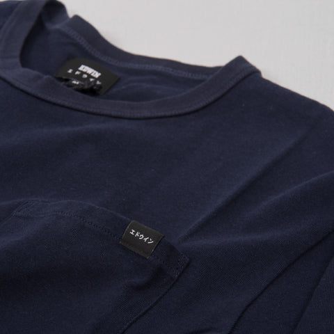 Edwin Oversized Pocket Tee - Navy 2