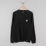 Carhartt WIP L/S Pocket Tee - Black 1