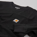 Carhartt WIP L/S Pocket Tee - Black 2
