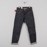 Edwin Regular Tapered Jeans - Nihon Menpu Dark Pure Indigo Blue Selvage 3