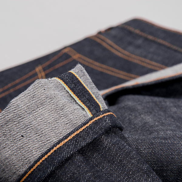 Edwin Regular Tapered Jeans - Nihon Menpu Dark Pure Indigo Blue Selvage 5