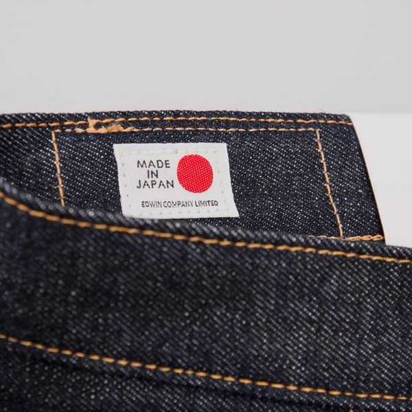 Edwin Regular Tapered Jeans - Nihon Menpu Dark Pure Indigo Blue Selvage 6