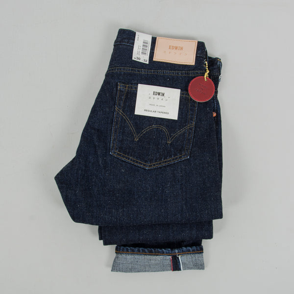 Edwin Regular Tapered Nihon Menpu - Open Weave Blue Even Wash Jeans 2