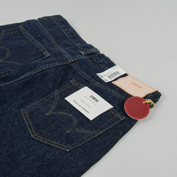 Edwin Regular Tapered Nihon Menpu - Open Weave Blue Even Wash Jeans 4