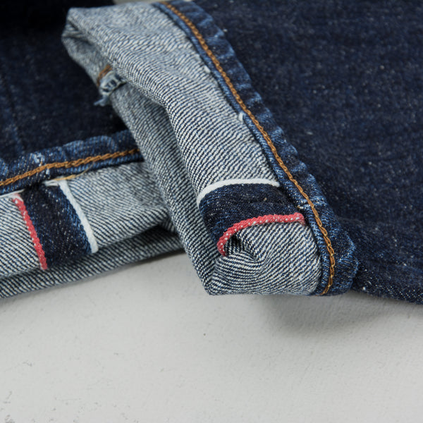 Edwin Regular Tapered Nihon Menpu - Open Weave Blue Even Wash Jeans 5