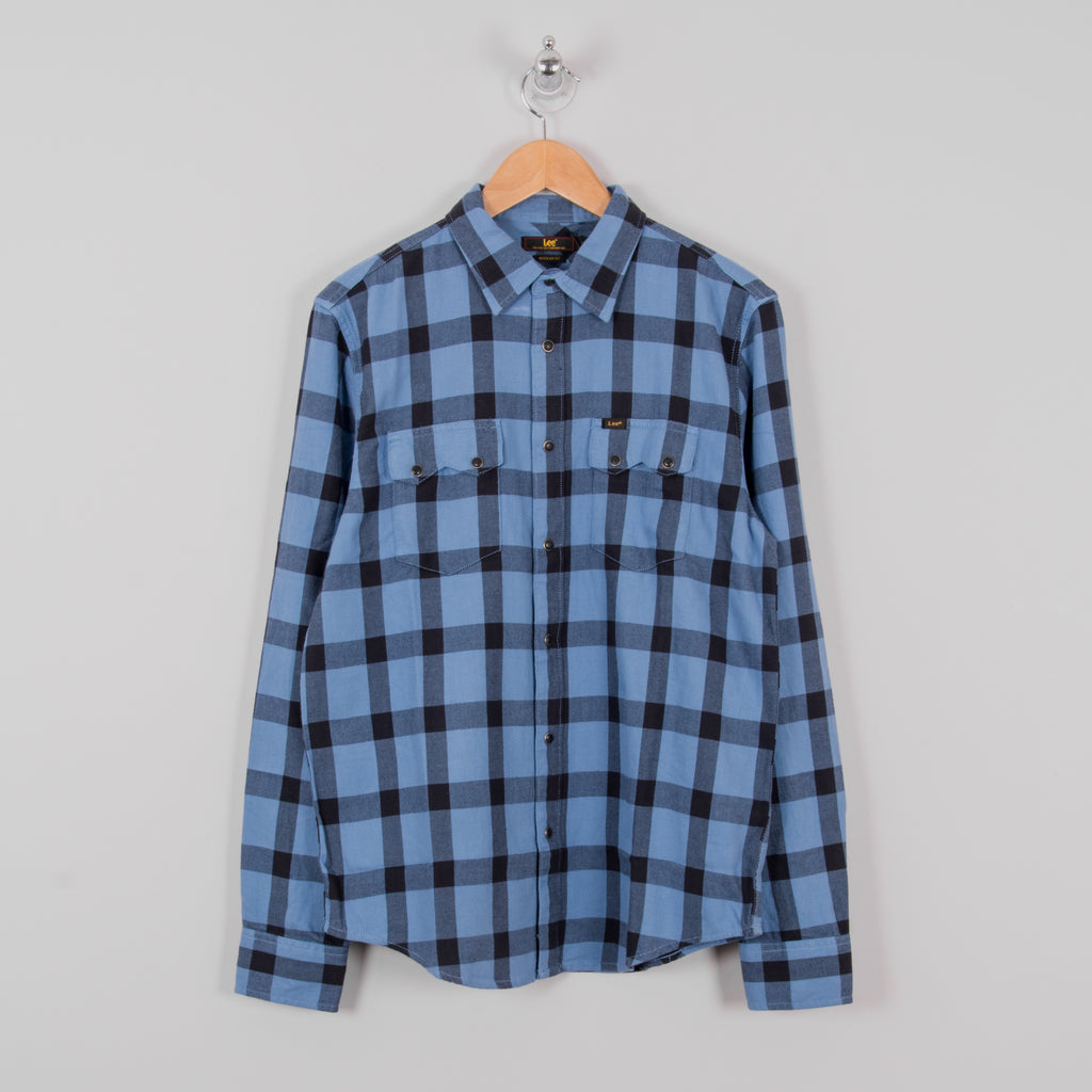 Lee 101 Rider Shirt - Frost Blue 1