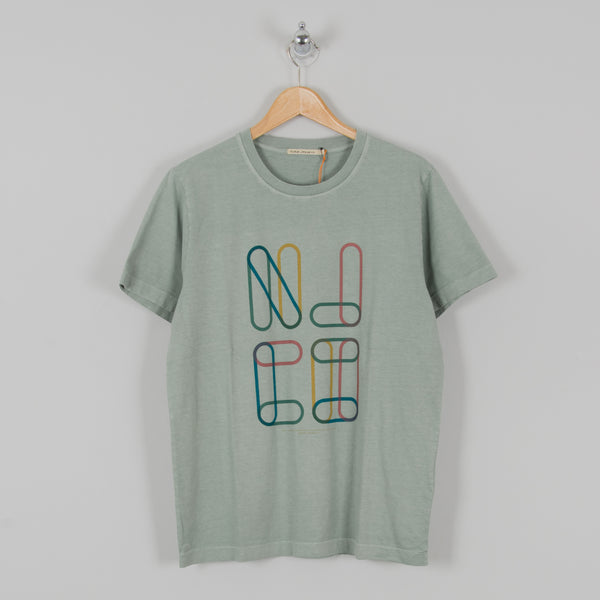 Nudie Roy NJCO Rounded Tee Pale Green 1