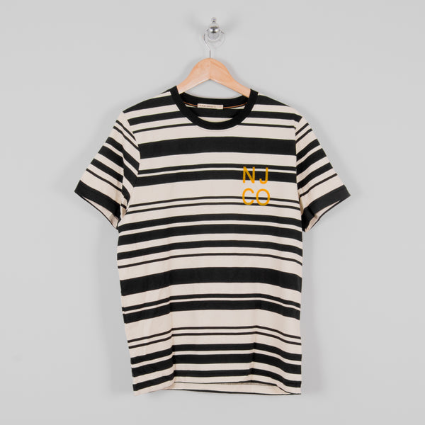 Nudie Roy Barcode Tee - Off White / Black 1