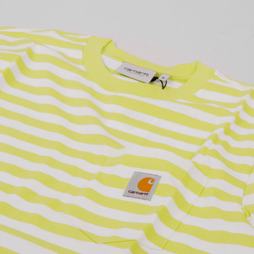 Carhartt WIP Scotty S/S Striped Pocket Tee - Lime 2